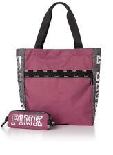 Victoria's Secret PINK Clay Grey Tote w/ Tech Pouch Bag
