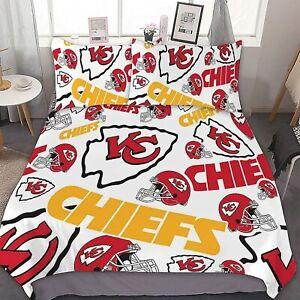 Kansas City Chiefs 3PCS Bedding Set Comforter Cover Pillowcase Quilt/Duvet Cover