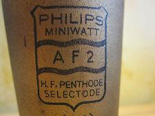 # AF 2 PHILIPS TUBE # Röhre # TF 2 # WE 25  VAF 2 #RENS 1294 # MINIWATT # RADIO