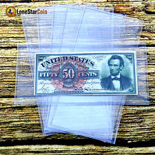 20 Superior Grade FRACTIONAL Currency Sleeves - PVC FREE