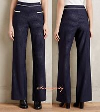 NWT Anthropologie Pinstriped Wide-Leg Trousers sz M, 5 Star Review Sold out $128