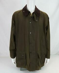 Barbour Classic Beaufort Wax Jacket Work Chore Brown Size L