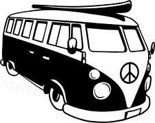 Volkswagen Bus Aufkleber Window Bumper Laptop Sticker Vinil Decal 122