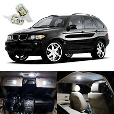21 x Xenon White LED Interior Light Package Kit Deal For BMW X5 E53 2000 - 2006