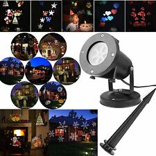 12 Slides LED Laser Projector Light Outdoor Garden Christmas Xmas Party Lamp UK