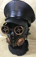 SDL 3pcs Steampunk Look Goggle, Mask & Military Hat In 57,58,59cm