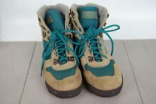 VASQUE Suede Teal Canvas Hiking Mountaineer Boots Style 7591 Women's Size 7.5