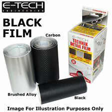 E-Tech BLACK Technik Detail Protection Film 3m x 12.5cm Car Bikes sill Styling