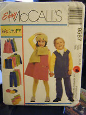 McCall's 9567 Kid's Jumper, Top, Pants, Scarf & Hat Pattern - Sizes 6/7/8
