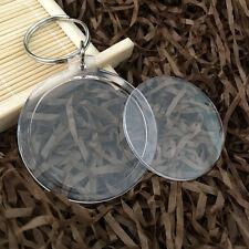 20 Transparent Blank Insert Photo Picture Frame Keyring Split Ring keychain
