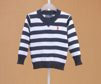 100% Cotton kids Sweater Boys Girls Children's Knit Sweater 3 colors 1-5 Y