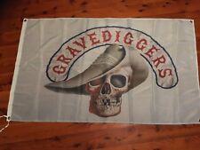 STONE biker POSTER flag stone gravediggers mc Harley Kawasaki triumph man cave