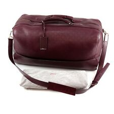 New BRIONI Large Leather Duffle Bag Oxblood (Burgundy)