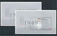 Bund Block 48 sauber postfrisch (2 Stück) 2050 BRD 50 Jahre Grundgesetz 1999 MNH