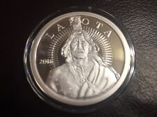1 OZ 2016 LAKOTA PROOF SILVER COIN  .999 Silver AOCS CRAZY HORSE WHITE BUFFALO
