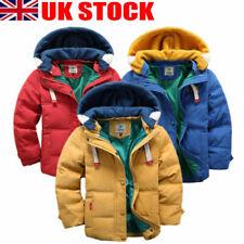 UK Boys Warm Winter Coat Hood Duck Down Casual School Trendy Parka 2-10Y Jacket