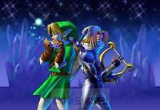 Poster A3 Videogame The Legend Of Zelda Ocarina Of Time Sheik Link 04