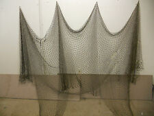 10'X20' Blk Nautical Net Decor-Deck-Yard-Maritime, Recycled Fishing Net #4598m10