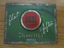 Vintage Lucky Strike Cigarette Flat Fifties Tin With Original Stamp