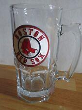 """Boston Red Sox Pewter Logo 8"""" Glass Mug"""