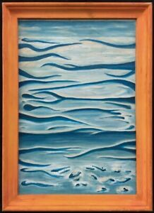 20th Century English School Oil on Canvas Abstract Painting.