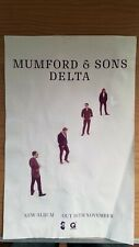 RARE Mumford And Sons Delta Promo Poster May Have Light Damage *READ *SEE PICS