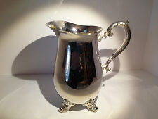 """Ornate Gorham Silverplate Over Brass Footed Pitcher with Ice Catcher 8 1/2"""" tall"""