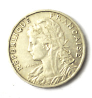 1904 France 25 Twenty Five Centimes KM# 856 Nickel Coin