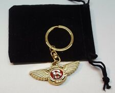 Bentley Rosso 24ct GOLD PLATED PORTACHIAVI MULSANNE Continental GT GTC Turbo R ARNAGE