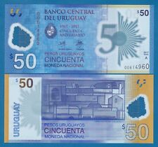 URUGUAY 50 Pesos New 2017 (2018) UNC Polymer Commemorative Low Shipping Combine!
