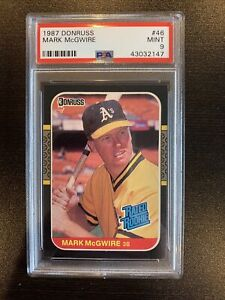 1987 DONRUSS MARK MCGWIRE RATED ROOKIE CARD RC #46 PSA 9 MINT Ships Free