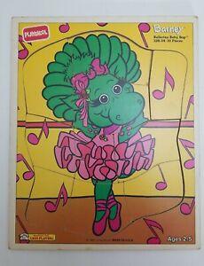 PLAYSKOOL BOARD PUZZLE BARNEY BALLERINA BABY BOP 1993