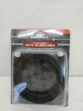 RadioShack 20ft Rg-58 50-ohm Coax Cable Assembly Pl-259 So-239 Connectors Ham Cb