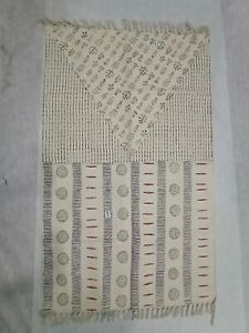 Traditional Hand Block Handwoven Printed Rugs Indian Cotton Floral Dhurries Rugs