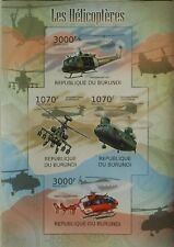 Helicopters military aircraft aviation Burundi m/s Sc 1069 MNH #BUR12204a IMPERF