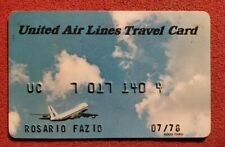 United Airlines Travel Card credit card expired 1973♡Free Shipping♡cc557