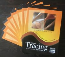 """8 Packs 9"""" x 12"""" Quality Tracing Paper Pad Sketches Book Preliminary 30 Sheets"""