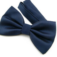 Noeud Papillon pour Homme ou Femme Bleu en soie mélangée  Silk Blue men Bow tie