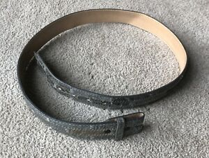 TONY LAMA Belt ROBUS LEATHER & SNAKE SKIN Made In Texas Size 38
