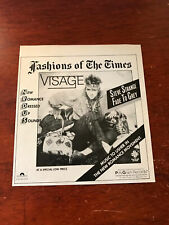 "1981 Vintage 5X5.5"" Album Promo Print Ad For Visage Steve Strange Fade To Grey"