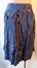 Table eight size 18 blue metallic print lined skirt