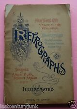 Retrographs- Trade Cat. W/ Biographies Geo. Wash, Alex Hamilton, Nat. Hale 1888