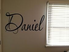 Custom Daniel Boys Room Name Nursery Baby Kids Vinyl Wall Art Quote Sticker