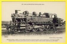 cpa LOCOMOTIVE Reseau Est Machine Tender N° 4447 pour TRAINS lourds Animée