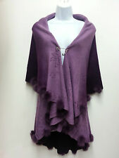 DESIGNER PURPLE SHAWLS PONCHO AND WRAPS FOR WOMEN ONE SIZE FIT