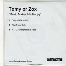 (ED399) Tomy Or Zox, Music Makes Me Happy - DJ CD
