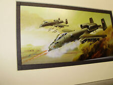 Fairchild A 10 Thunderbolt II  Model Airplane Box Top Art Color  artist