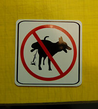 NO PEEING poop stoop and scoop color lawn sign dog waste pick up after your pet