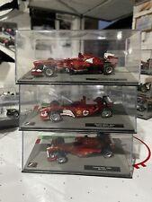1/43 Ferrari F1 Formula 1 Cars Alonso 2013, Barrichello 2004, Salo 1999