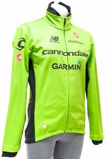 Castelli Garmin Cannondale Pro Cycling Team Wind Jacket Men 2XL Green GORE Bike